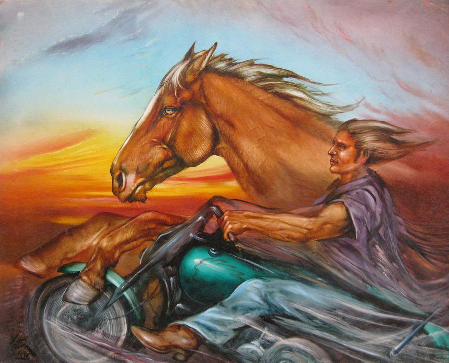 Iron Horse Painting