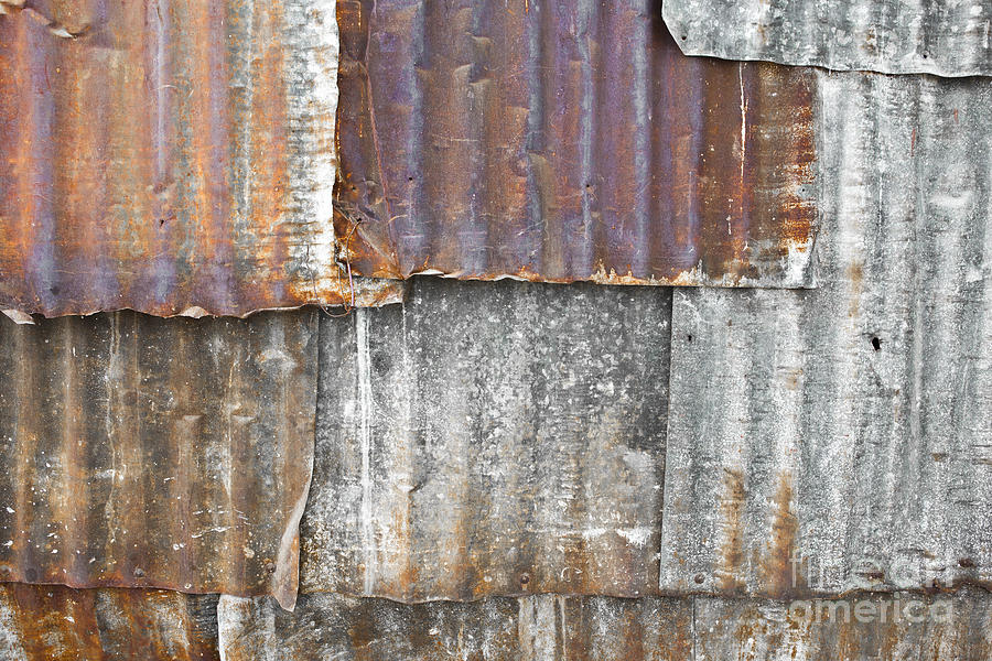 Architecture Photograph - Iron Weathering A Variety Of Wall by Chavalit Kamolthamanon