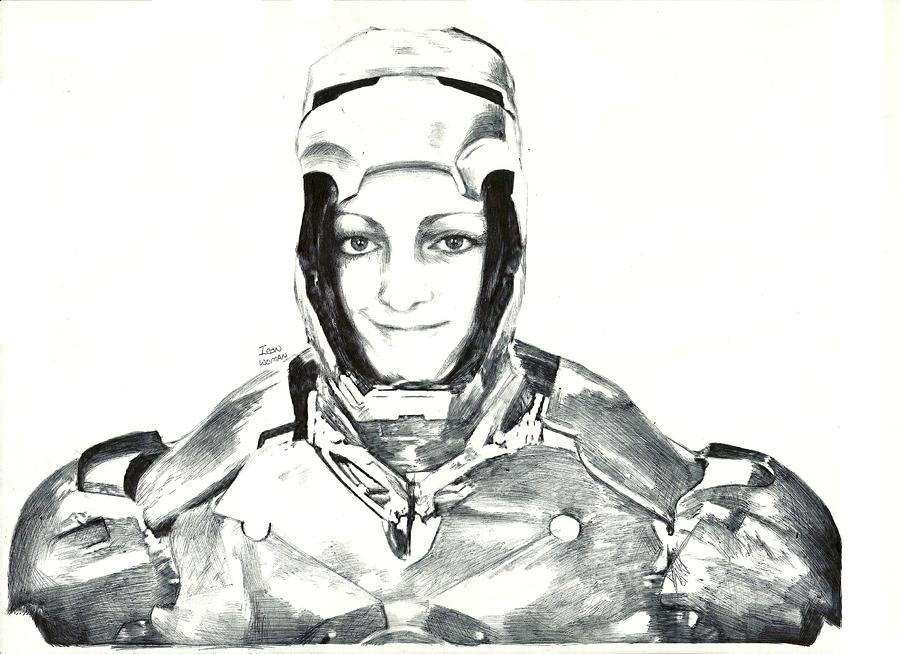 Iron Woman Drawing