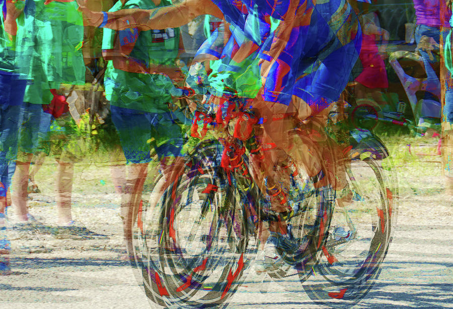 Ironman Bicyclist 2109 Photograph  - Ironman Bicyclist 2109 Fine Art Print