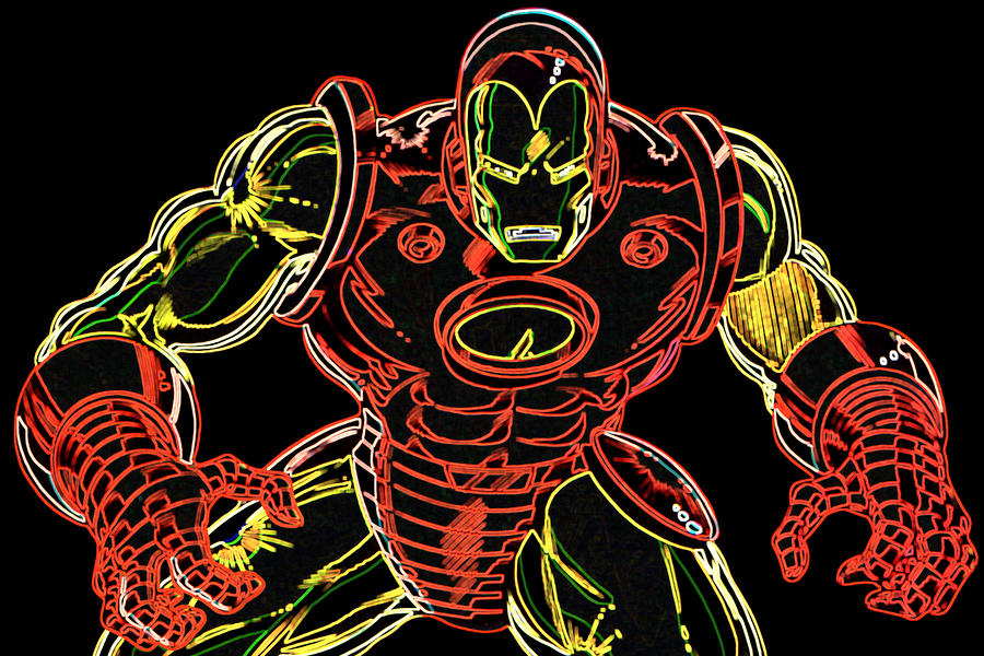 Ironman Digital Art  - Ironman Fine Art Print