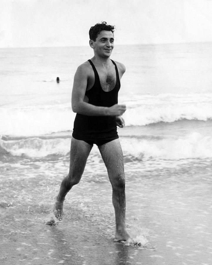 Irving Berlin At The Beach In Palm Photograph  - Irving Berlin At The Beach In Palm Fine Art Print