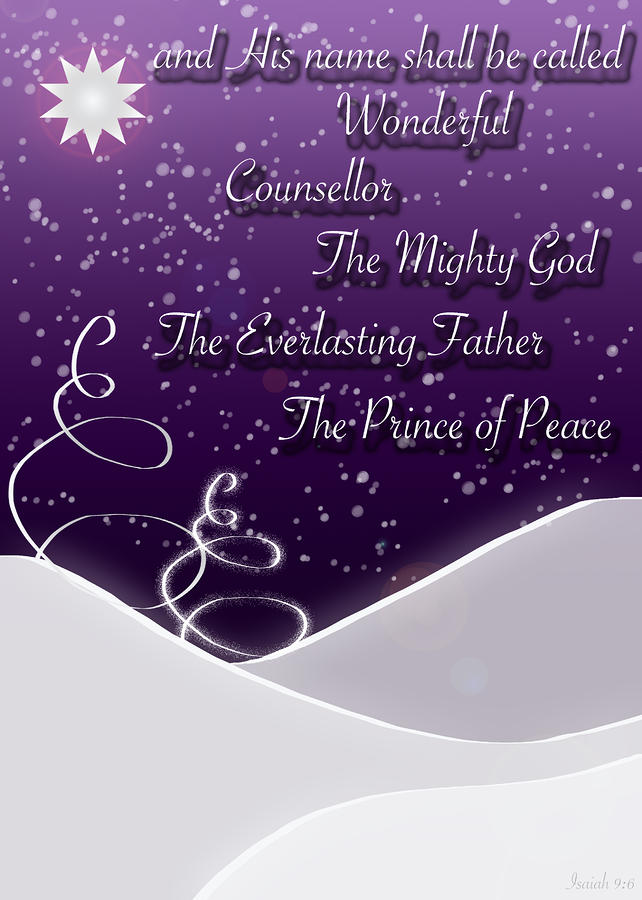 Isaiah Chapter 9 Verse 6 Christmas Card Digital Art