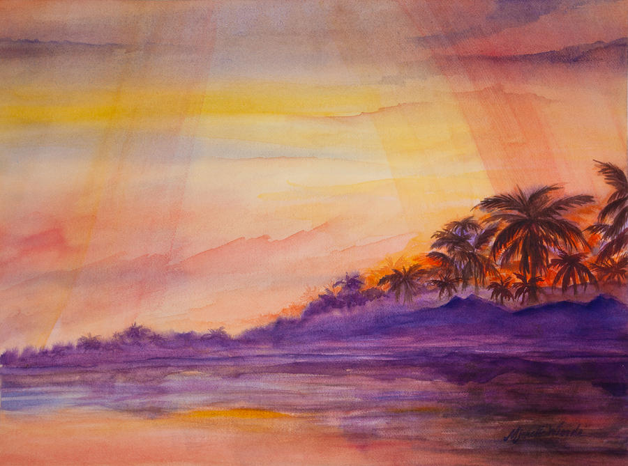 Islamorada Sunset Painting  - Islamorada Sunset Fine Art Print