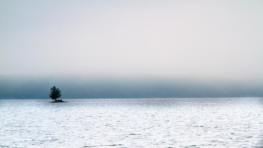 Island In The Fog Photograph  - Island In The Fog Fine Art Print
