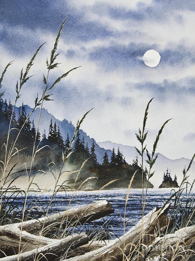 Island Moon Painting