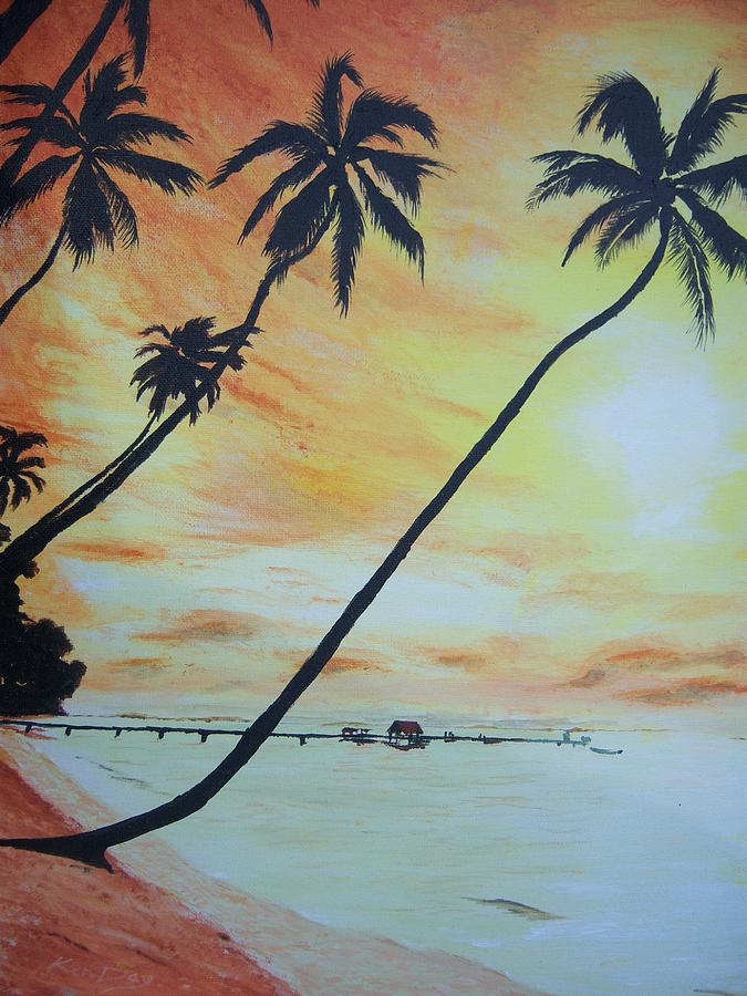Island Sunset Painting