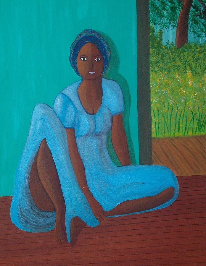 Island Woman Painting