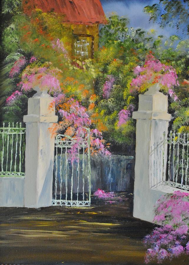 Garden Painting - Italian Garden by James Higgins
