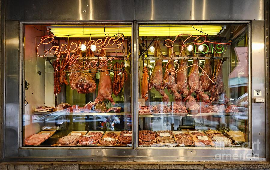 Italian Market Butcher Shop Photograph