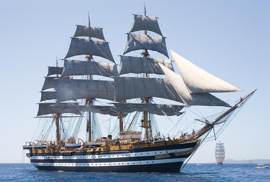 Italian Tall Ship Amerigo Vespucci Photograph by Max Mudie