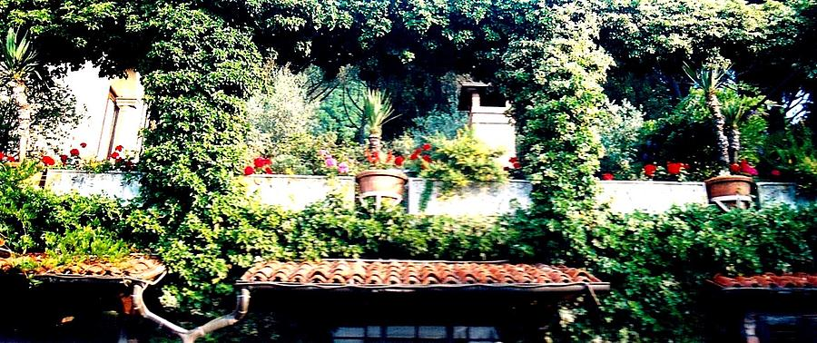 Europe Tapestry - Textile - Italian Terrace Gardens by Kimberly Simon