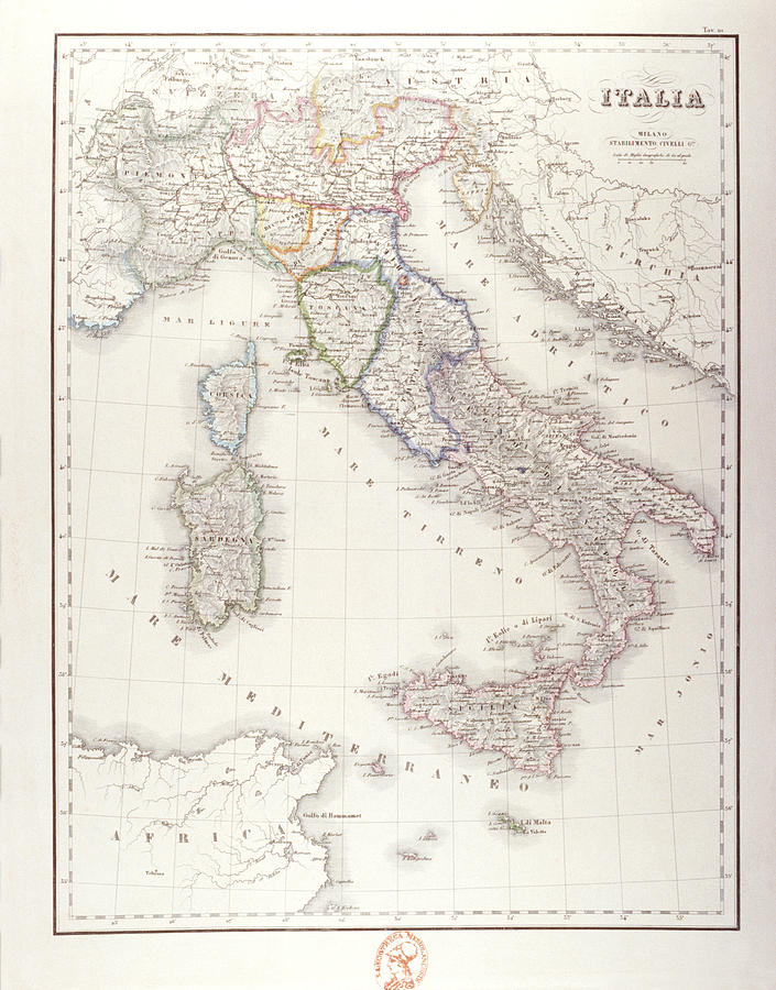 Italy Before Unification Digital Art  - Italy Before Unification Fine Art Print