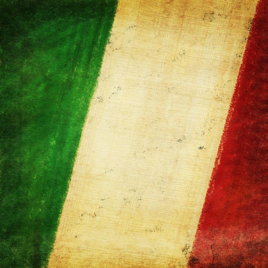 Antique Photograph - Italy Flag by Setsiri Silapasuwanchai