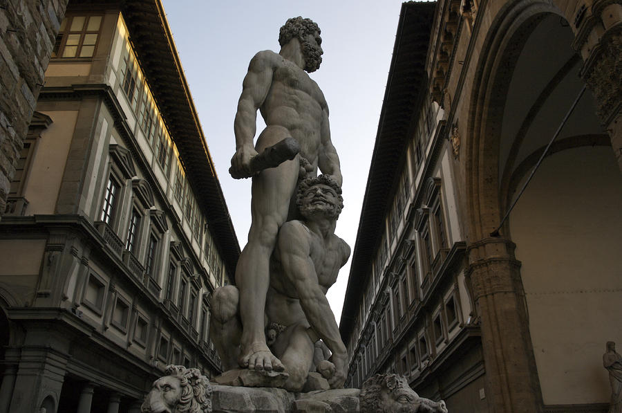 Italy, Florence, Sculpture Of Gercules Photograph  - Italy, Florence, Sculpture Of Gercules Fine Art Print