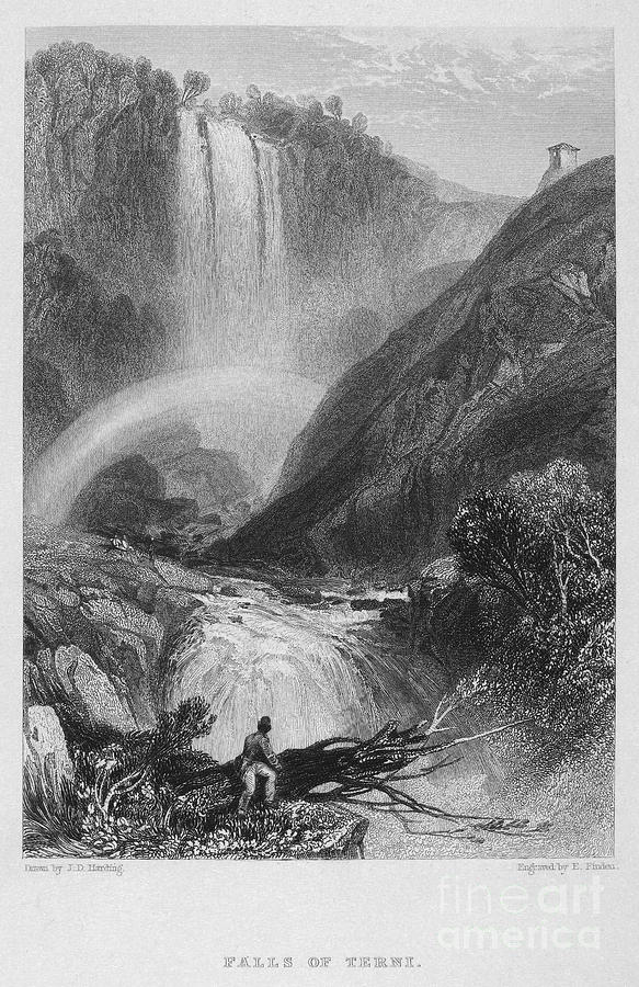 Italy: Waterfall, 1833 Photograph  - Italy: Waterfall, 1833 Fine Art Print