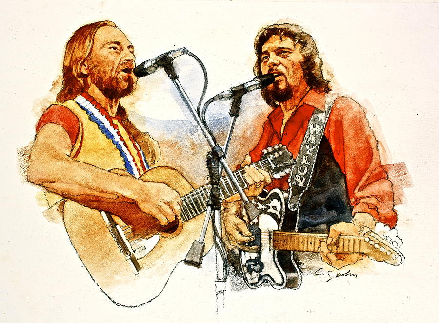 Its Country - 7  Waylon Jennings Willie Nelson Painting  - Its Country - 7  Waylon Jennings Willie Nelson Fine Art Print
