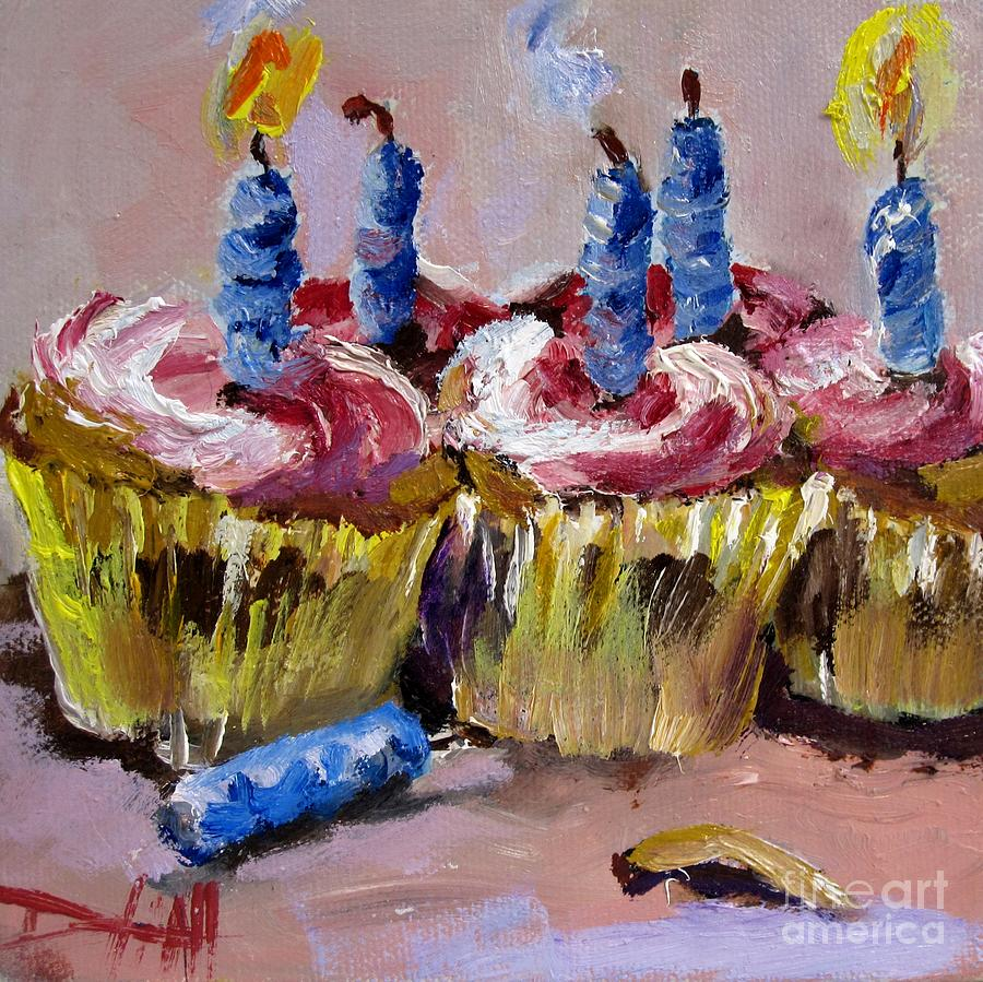 Birthday Cake Art Gallery : It s Your Birthday Painting by Delilah Smith
