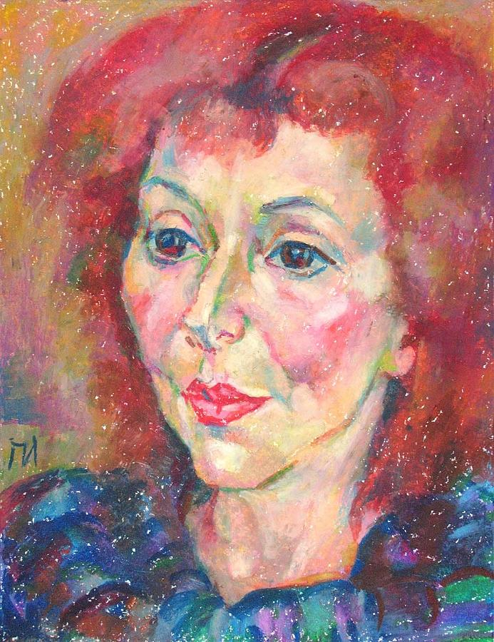 Paper Painting - Ivanka Stoyanova by Leonid Petrushin