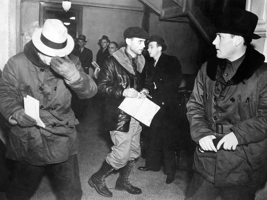J. Edgar Hoover Arriving In St. Paul Photograph