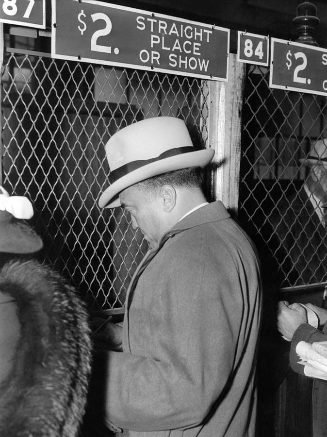 J. Edgar Hoover Placing A Bet Photograph