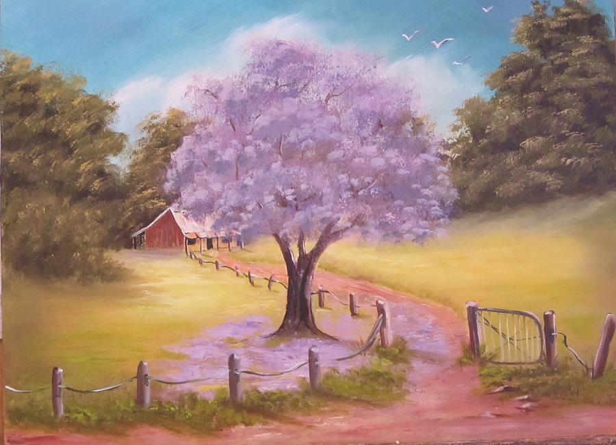 Jacaranda Homestead Painting