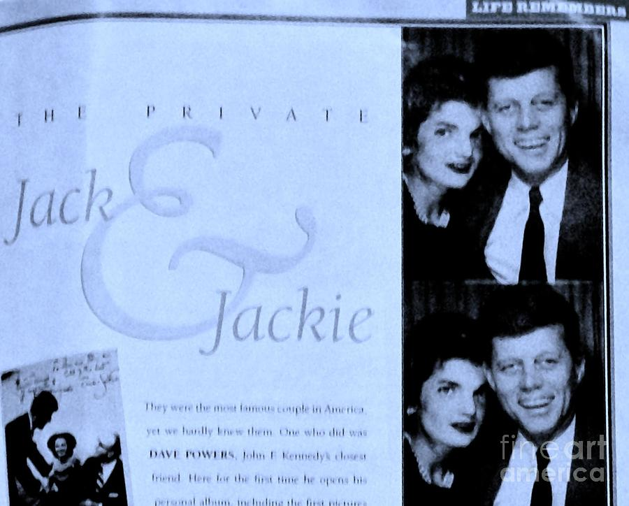 Jack And Jackie In Life Magazine Photograph  - Jack And Jackie In Life Magazine Fine Art Print