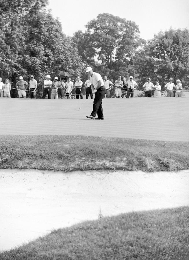 Jack Nicklaus Drops Putt At 1964 Us Open At Congressional Country Club Photograph