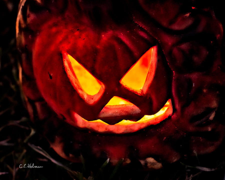 Halloween Photograph - Jack-o-lantern by Christopher Holmes