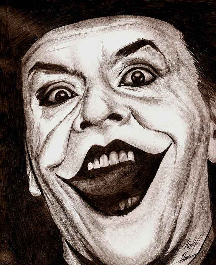 Jack The Joker Drawing  - Jack The Joker Fine Art Print