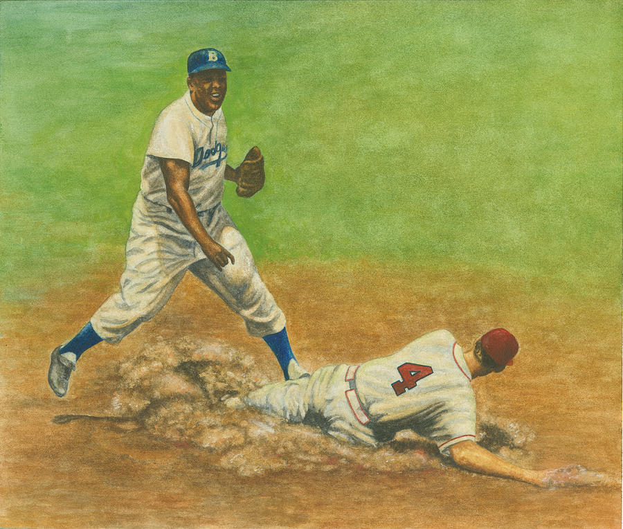 Jackie Robinson Turning Two Painting