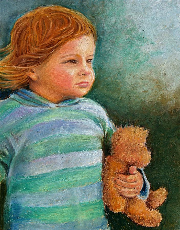 Jackson And Teddy Pastel  - Jackson And Teddy Fine Art Print