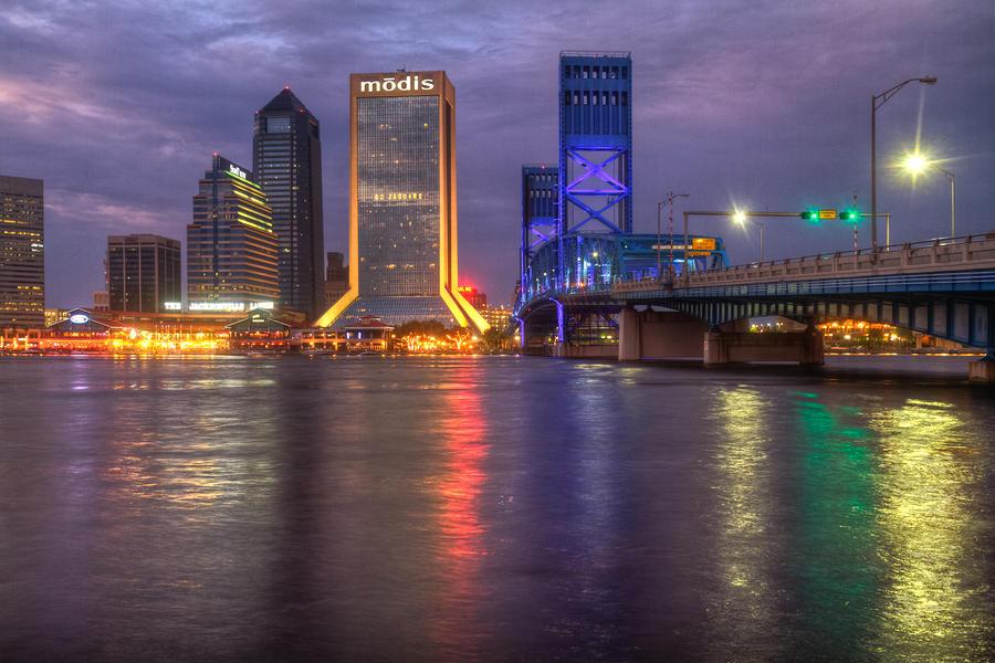 Jacksonville At Dusk Photograph