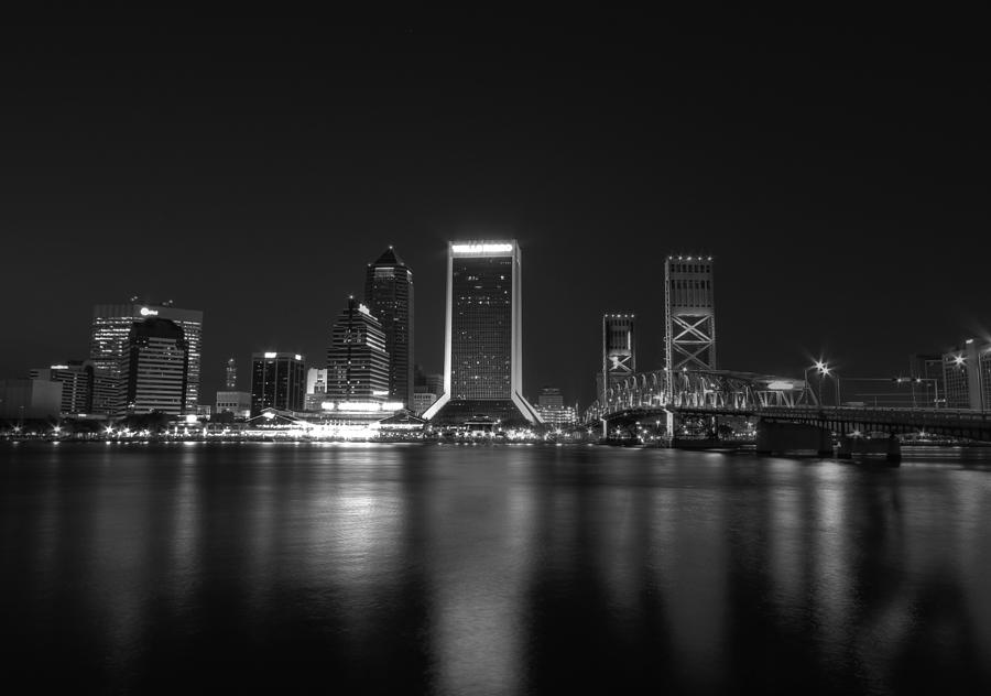 Jacksonville Landing At Night Digital Art  - Jacksonville Landing At Night Fine Art Print