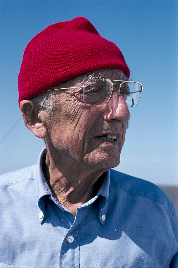 Jacques-yves Cousteau, French Diver Photograph