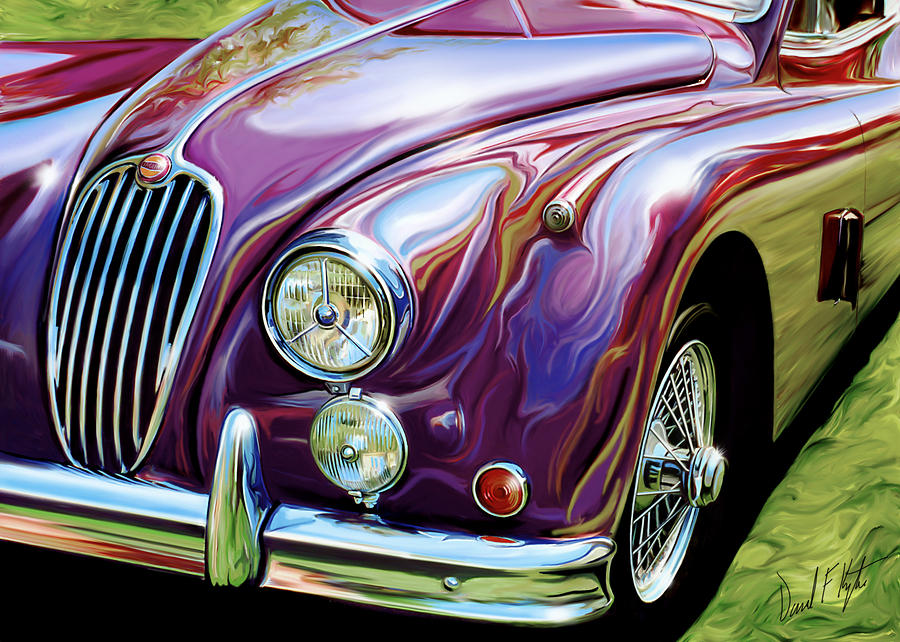 Jaguar 140 Coupe Digital Art  - Jaguar 140 Coupe Fine Art Print
