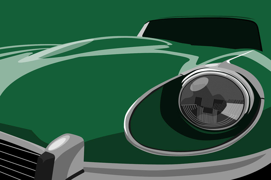 Jaguar E-type Digital Art