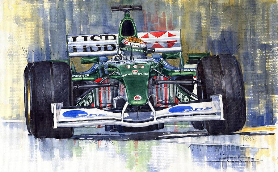Jaguar R3 Cosworth F1 2002 Eddie Irvine Painting
