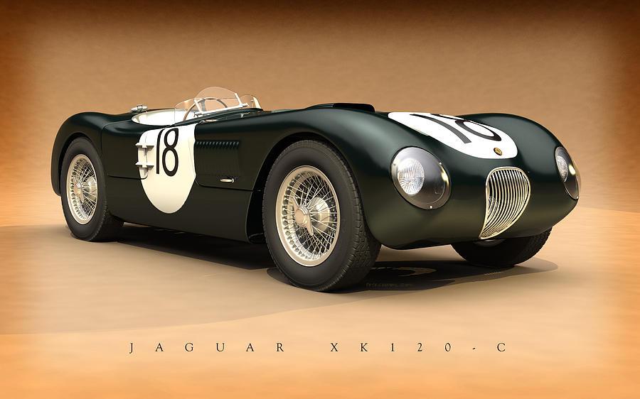 Jaguar Xk120-c Digital Art