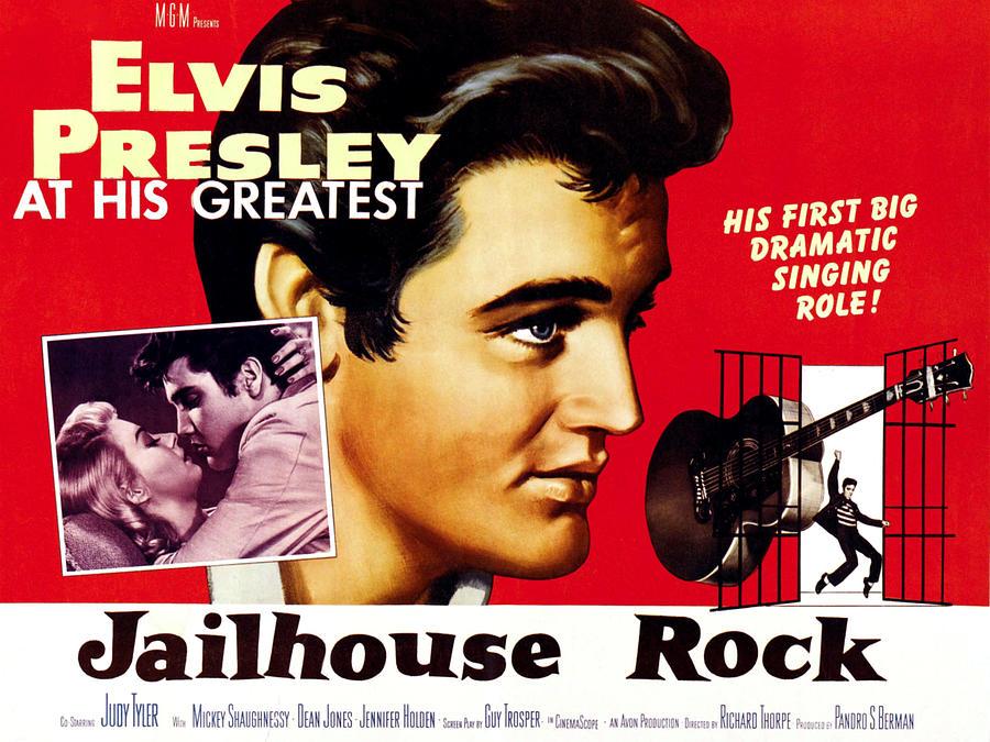 1950s Poster Art Photograph - Jailhouse Rock, Elvis Presley, 1957 by Everett
