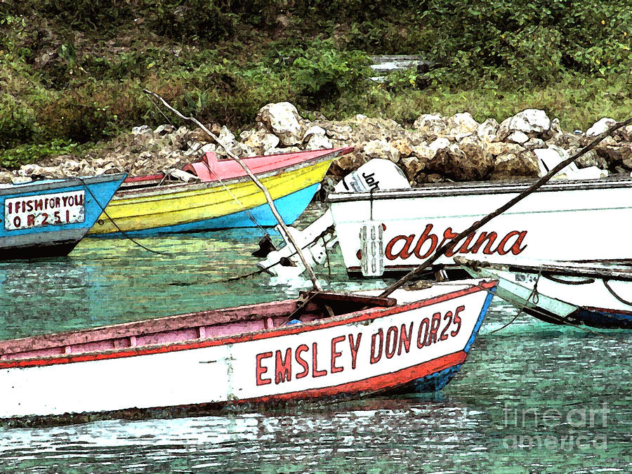 Jamaica fishing boats by mark grayden for Jamaica fishing charters