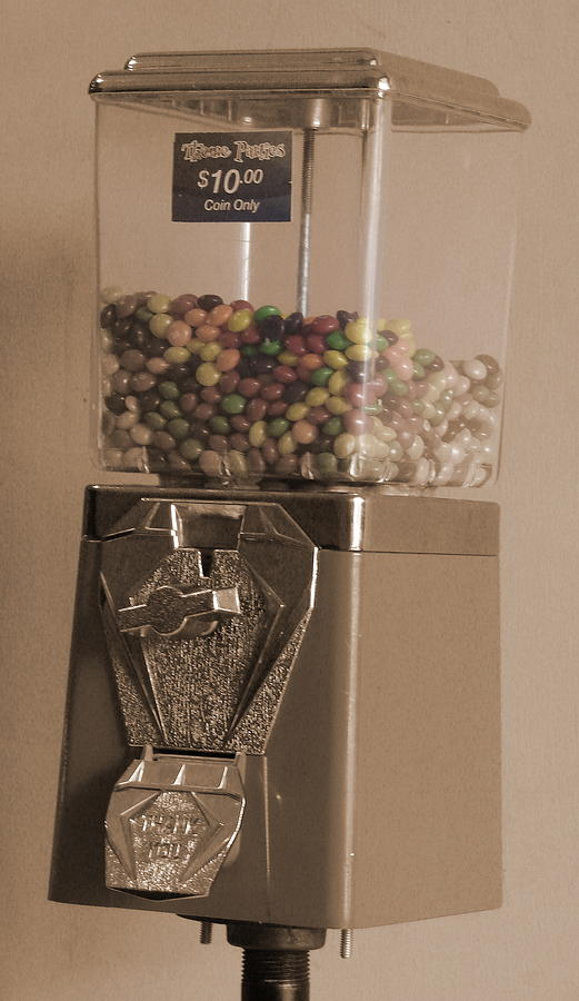 Jamaican Ten Dollar Coin Candy Machine Photograph