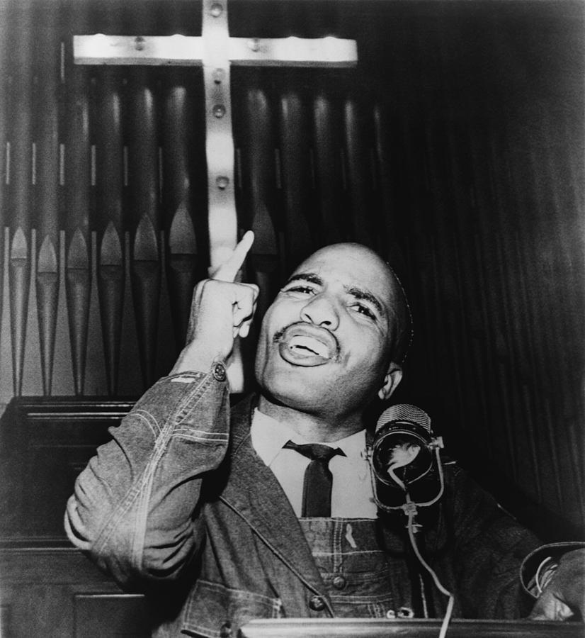 James Bevel 1936-2008 Speaking Photograph