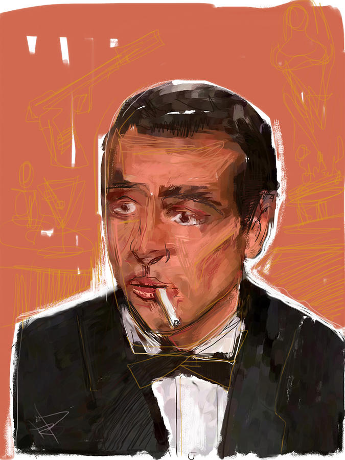 James Bond Mixed Media  - James Bond Fine Art Print