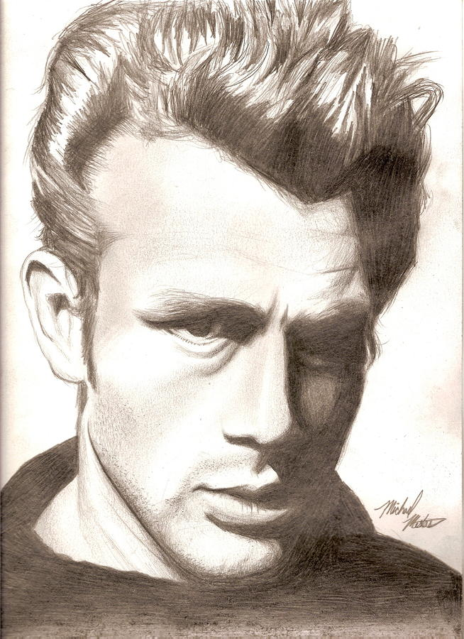 James Dean Drawing  - James Dean Fine Art Print