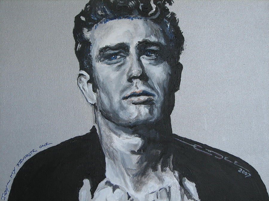 James Dean One Painting  - James Dean One Fine Art Print