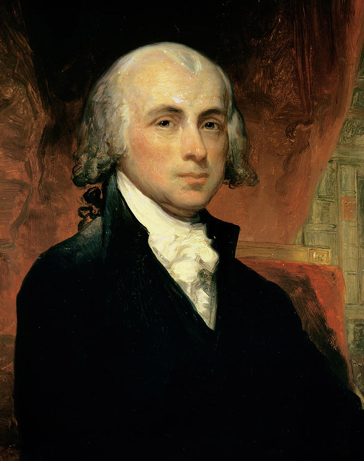 James Madison Painting  - James Madison Fine Art Print