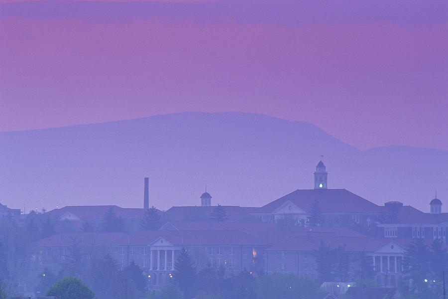 James Madison University At Dusk Photograph  - James Madison University At Dusk Fine Art Print