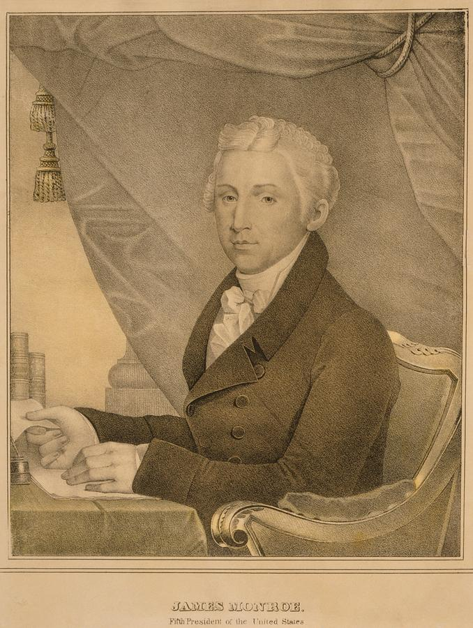 History Photograph - James Monroe Fifth President by Everett