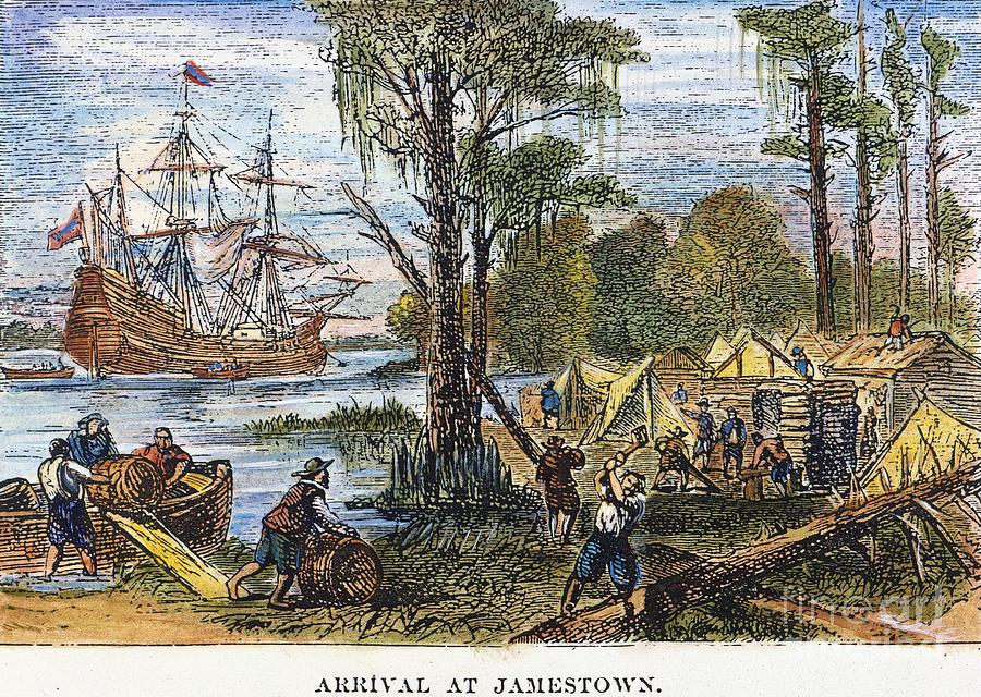 Jamestown: Arrival, 1607 by Granger